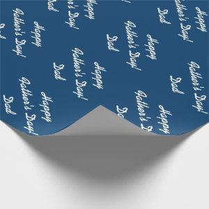 Father's Day wrapping paper for dad | Navy blue