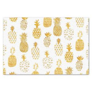 faux gold foil pineapples tissue paper