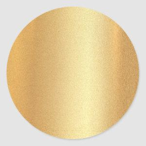 Faux Gold Glitter Blank Template Glamour Elegant Classic Round Sticker