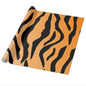 Faux Tiger Print Wrapping Paper