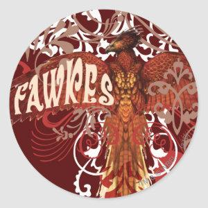 Fawkes Spread Wings Classic Round Sticker