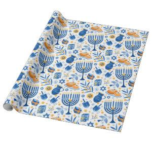 Festival Of Lights For Hanukkah Wrapping Paper