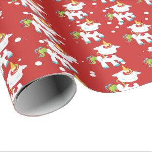 Festive Christmas Holiday unicorn Fantasy wrap Wrapping Paper