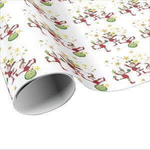 Festive Elves Christmas Wrapping Paper