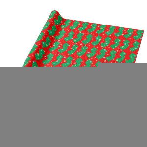Festive Green and Red Map of New Jersey Snowflakes Wrapping Paper