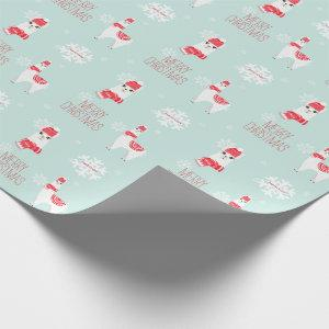 Festive Holiday Alpaca Personalized Christmas Wrapping Paper