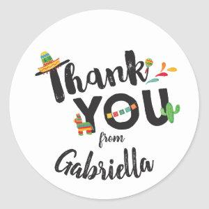 Fiesta Thank You Sticker