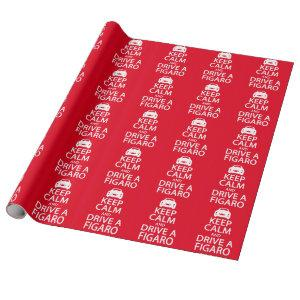 Figarations Funny Red Keep Calm Drive Figaro Car Wrapping Paper