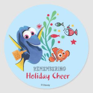 Finding Dory   Remembering Holiday Cheer Classic Round Sticker