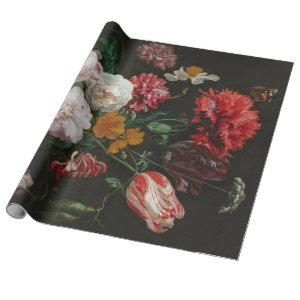 Fine Art Floral Decoupage Poster Wrapping Paper