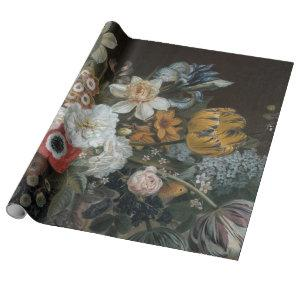 Fine Floral Decoupage Poster Wrapping Paper