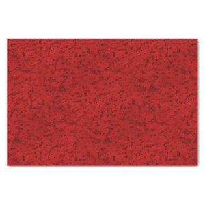 Fire Brick Red Cork Look Wood Grain Tissue Paper