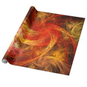 Firestorm Nova Abstract Art Wrapping Paper