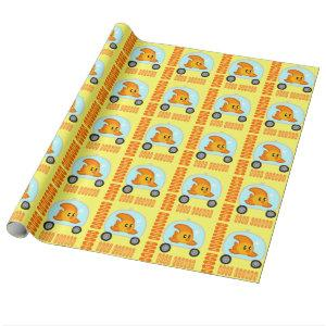 Fish 2.0 BIRTHDAY Wrapping paper YELLOW