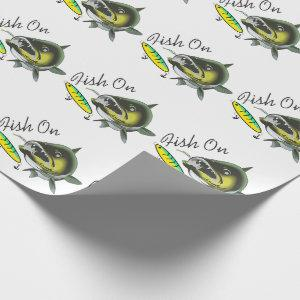 Fish On Wrapping Paper