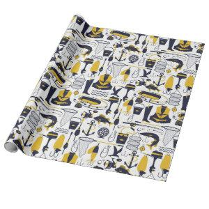 Fishing Pattern Wrapping Paper