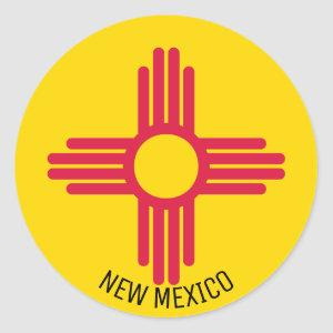 Flag of New Mexico Classic Round Sticker
