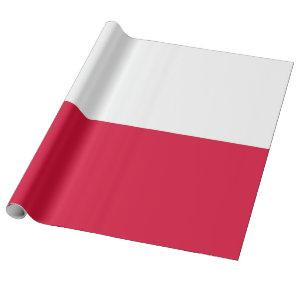 Flag of Poland Wrapping Paper