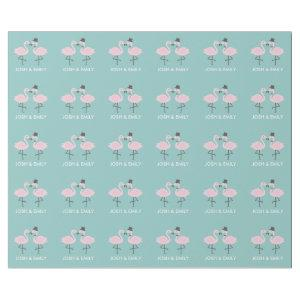 Flamingo Bride and Groom Personalized Gift Wrap
