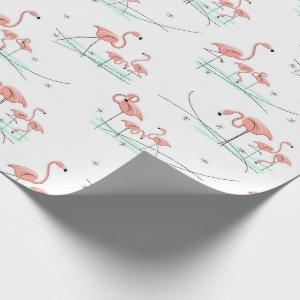 Flamingos Multi wrapping paper
