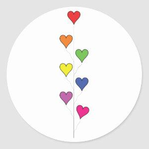 Floating Balloon Hearts - Sticker