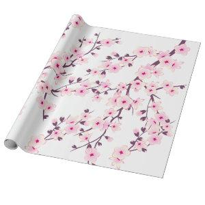 Floral Cherry Blossom Wrapping Paper