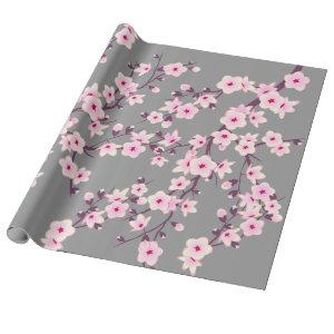 Floral Cherry Blossoms Wrapping Paper