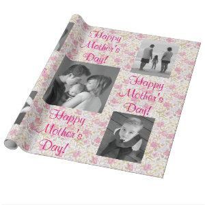 Floral Pastel Pink Custom Template Wrapping Paper