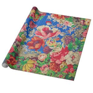 Floral Wrapping or Decoupage Paper