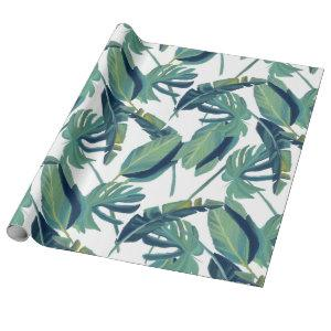 Foliage Tropical Monstera Leaves Wrapping Paper