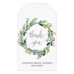 Foliage Wreath Thank You Favor Gift Tags