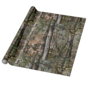 Forest Tree Camo Camouflage Nature Hunting/Fishing Wrapping Paper