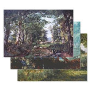 FORESTS AND TREES HEAVY WEIGHT DECOUPAGE WRAPPING PAPER SHEETS