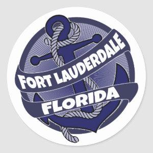 Fort Lauderdale Beach Florida anchor stickers