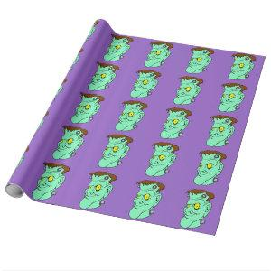 Frankenstein Smiling Wrapping Paper