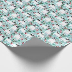 French Bulldog christmas wrap Wrapping Paper