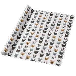 French Bulldogs wrapping paper - cute dogs