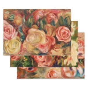 FRENCH FLORALS BY RENOIR  HEAVY WEIGHT DECOUPAGE WRAPPING PAPER SHEETS