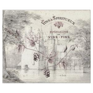 FRENCH SPECIALITY WINES AND SPIRITS DECOUPAGE WRAPPING PAPER