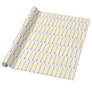 Freshly Sharpened Yellow Pencil Pattern Wrapping Paper