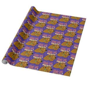 Frightened Scooby-Doo Wrapping Paper