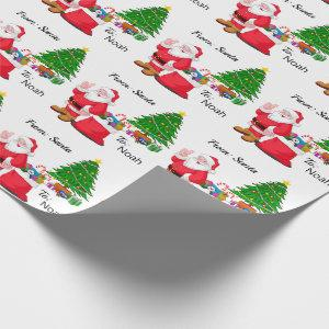 From Santa Child's NAME Personalize Wrapping Paper