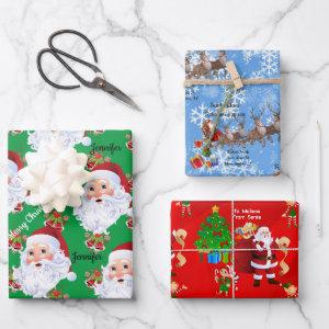 From Santa Claus Personalize Kids Names Christmas  Sheets