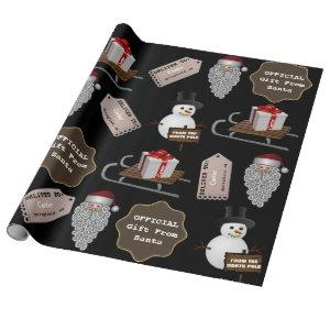 From The North Pole Personalized Santa Wrapping Paper