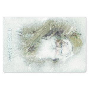 Frosted vintage Santa Claus Tissue Paper