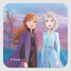 Frozen 2 | Anna & Elsa | A Journey Together Square Sticker
