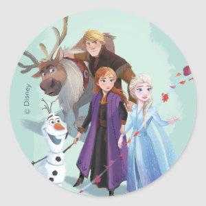 Frozen 2: Anna, Elsa & Friends | Change Classic Round Sticker