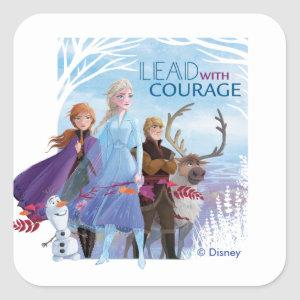 Frozen 2: Anna, Elsa, & Friends | Courage Square Sticker