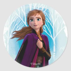 Frozen 2: Anna | Find Your Strength Classic Round Sticker
