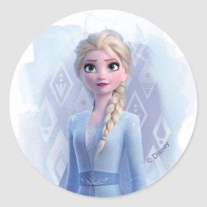 Frozen 2: Elsa | Face Your Fear Classic Round Sticker